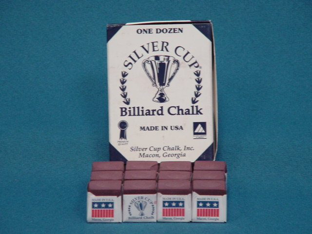 Silver Cup Cue Chalk - Green